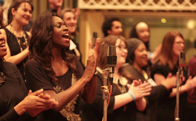 The Soul Sanctuary Gospel Choir (and Rev Lucy Winkett)